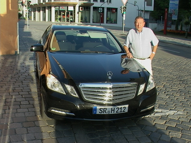Herr Peter Hoch with Car